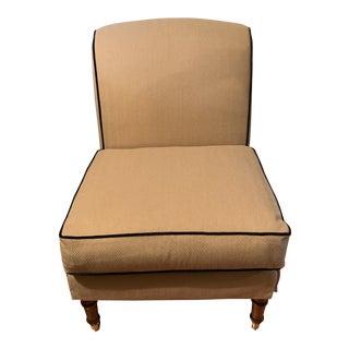 Century Custom Upholstered Armless Chair For Sale
