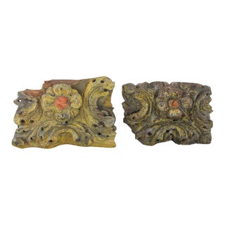 Baroque Altar Fragments - a Pair For Sale