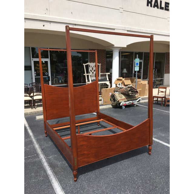 Brown Ralph Lauren Queen Size Poster Bed With Canopy For Sale - Image 8 of 10
