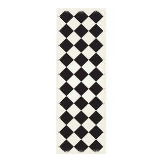 Black & White Diamond European Design Rug - 2' X 6'