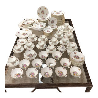 Mid 18th Century 'Fragrance' Coalport England China Set - 118 Pieces For Sale