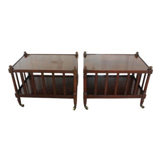 Mid-Century Modern Baker Furniture Company Side Tables - a Pair For Sale