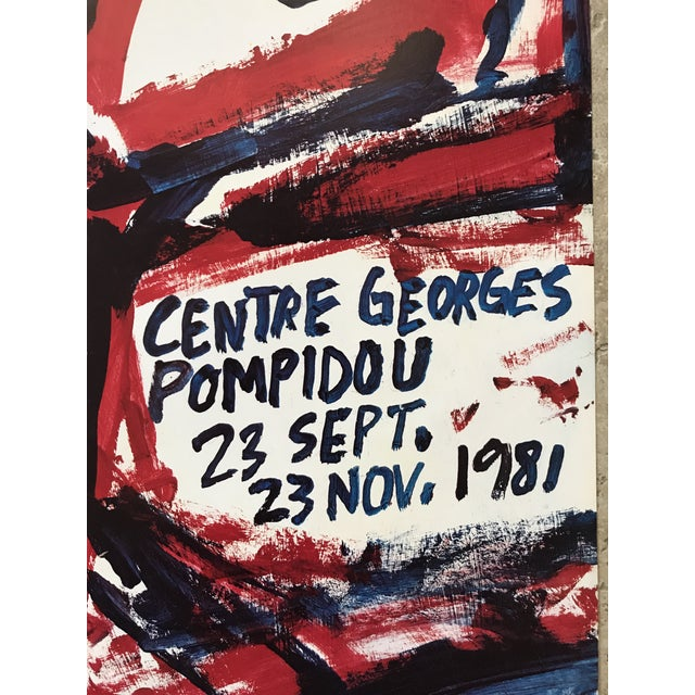 French 1981 Jean Dubuffet Centre Georges Pompidou Exhibition Poster For Sale - Image 3 of 6