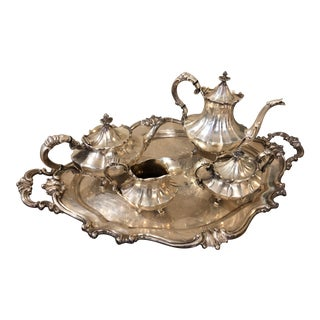 Antique Tea and Coffee Set of 5 For Sale