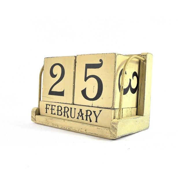 Vintage Wooden Perpetual Calendar Chairish