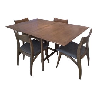 1960s Mid-Century Modern Heywood Wakefield Dining Set - 5 Pieces For Sale