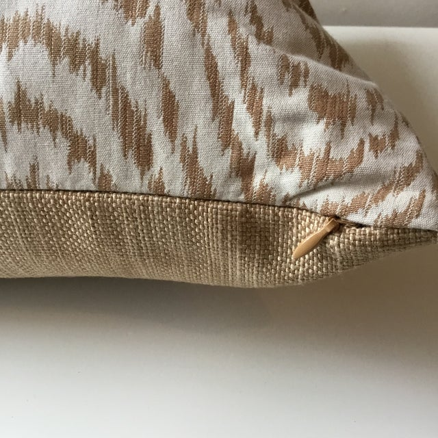 Brown Neutral Tiger Stripe Pillow For Sale - Image 8 of 10