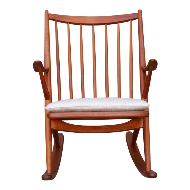 Danish Teak Rocking Chair by Reenshang for Bramin For Sale