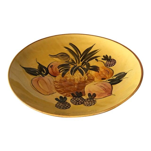 Vintage Pottery Large Shallow Fruit Bowl - Image 1 of 10
