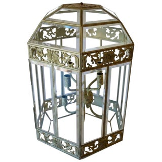1930s Traditional Wrought Iron Lantern For Sale