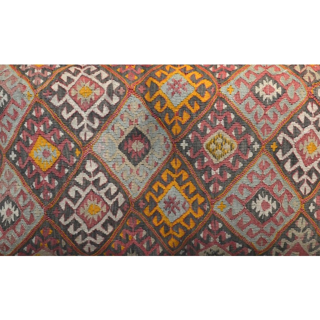 """Mid 20th Century Vintage Turkish Kilim Pillow 34"""" X 20"""" For Sale - Image 5 of 6"""