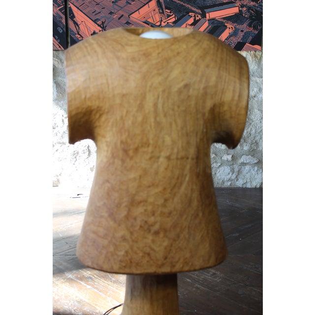 Vintage Wooden Figural Torso Table Lamp For Sale In San Francisco - Image 6 of 10