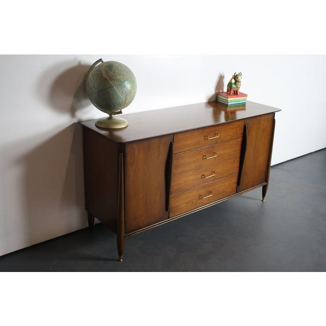Huntley Mid-Century Modern Architectural Dresser For Sale - Image 10 of 11