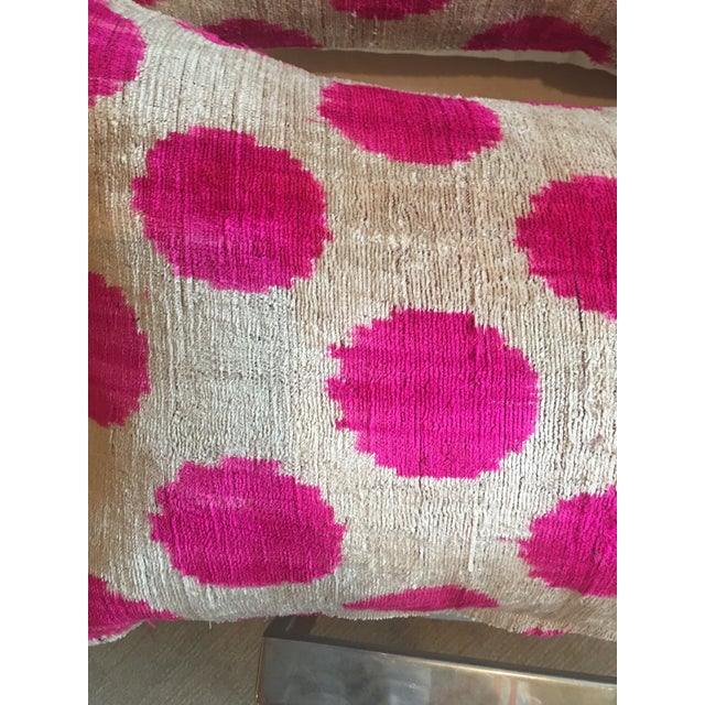 Pink Dots Handmade Pillows - A Pair For Sale In Santa Fe - Image 6 of 9