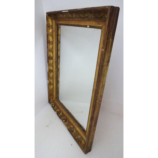 Antique French Gilded Mirror For Sale - Image 5 of 7