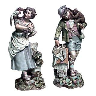 German Meissen Porcelain Figures - a Pair For Sale