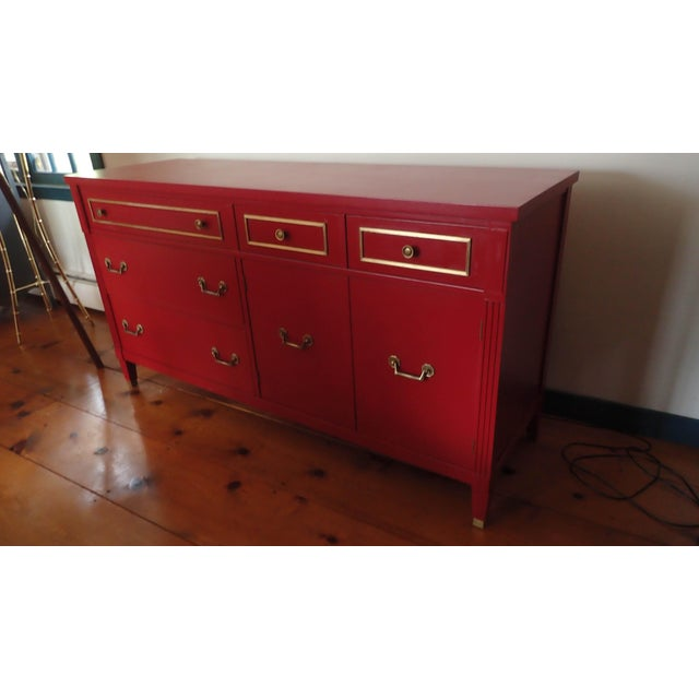 Mid-Century Cherry Red Sideboard - Image 10 of 10
