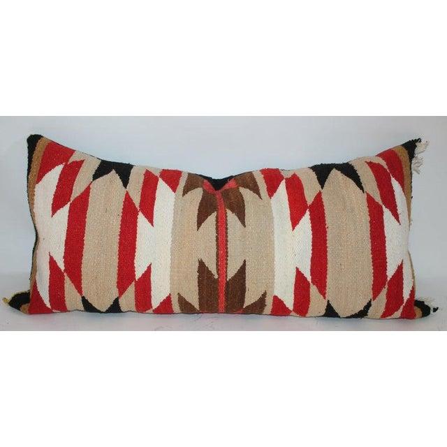 Boho Chic Navajo Indian Saddle Blanket Pillows - Set of 3 For Sale - Image 3 of 11