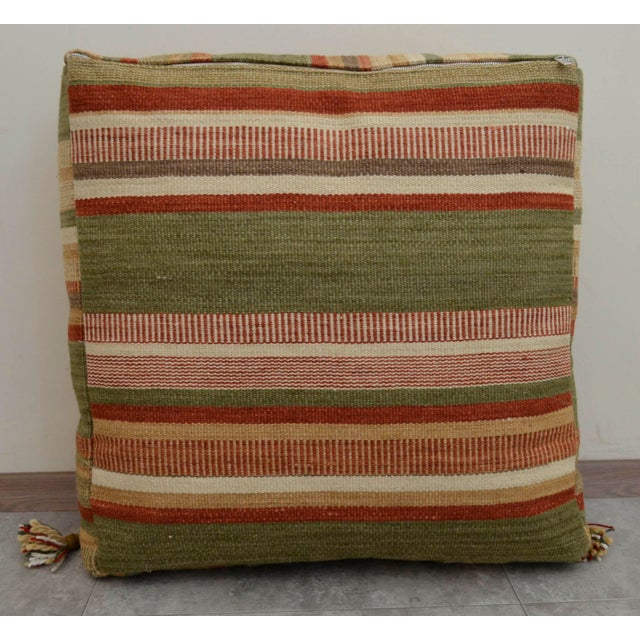 Turkish Hand Woven Floor Cushion Cover - Image 7 of 8