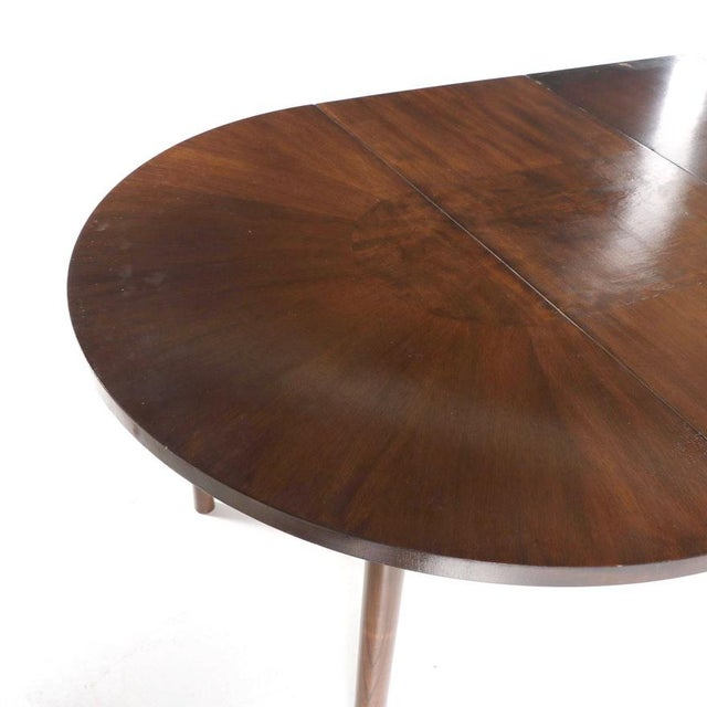 Brown 1990s Contemporary Walnut and Burl Wood 3 Leaf Extension Dining Table For Sale - Image 8 of 13