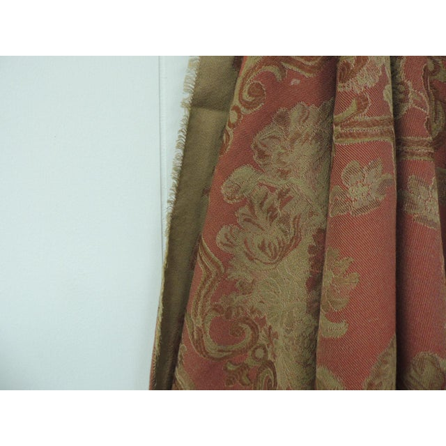 Square Mulburry dusty rose floral throw or cloth, Dusty rose color and gold woven depicting flowers all over pattern....