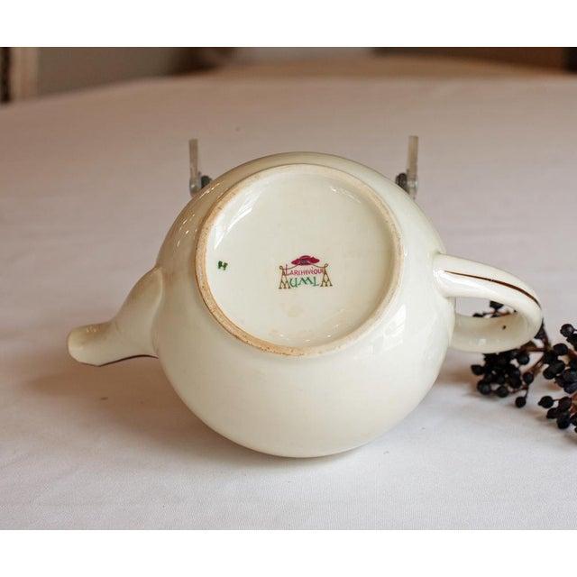 "Vintage French ""Le Manoir"" Porcelain Teapot For Sale - Image 5 of 5"