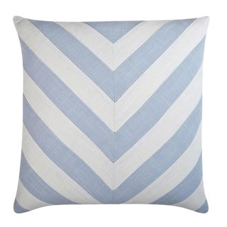 "Piper Collection Stone Cotton ""Ryan"" Pillow For Sale"
