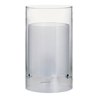 Cilla Carlo Moretti Contemporary Mouth Blown Murano Clear Glass Table Lamp For Sale