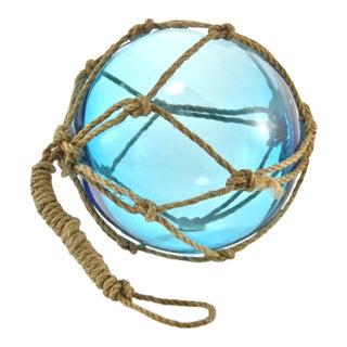 Aqua Blue Blown Glass Fishing Float