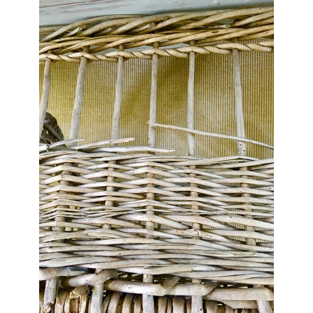Tan Vintage French Wicker Boulangerie Bakery Bread Basket For Sale - Image 8 of 9