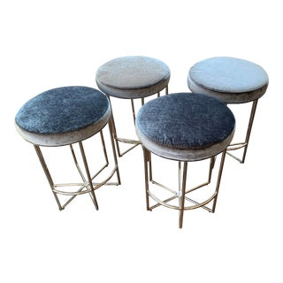 Set of Four Mitchell Gold Astra Counter Stools For Sale