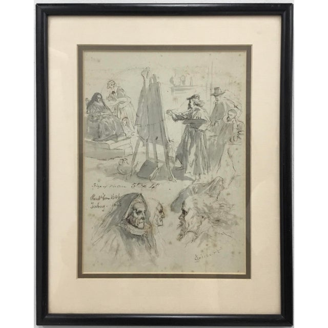 Original Pen and Ink Study Drawing by Sir John Gilbert For Sale - Image 11 of 11