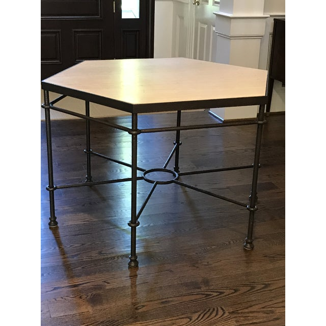 Modern Giacometti Style Hexagonal Center Table For Sale - Image 9 of 9