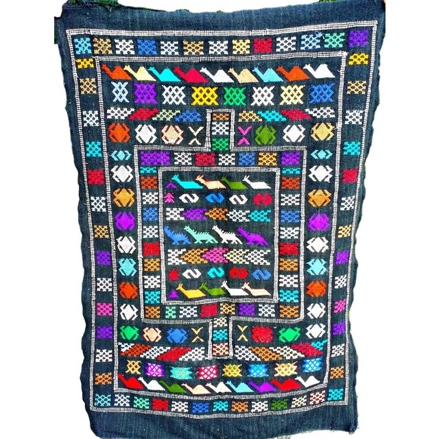 Moroccan Oued Zem Black Cotton Area Rug - 3′ × 4′6″ - Image 11 of 11
