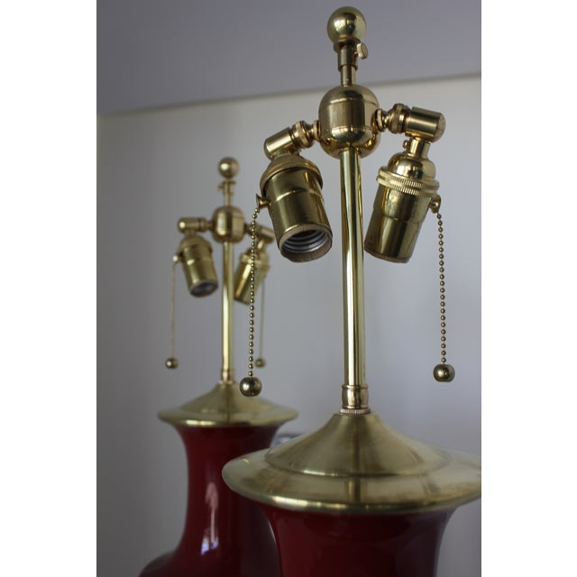 Christopher Spitzmiller, Inc Christopher Spitzmiller Ming Lamps - a Pair For Sale - Image 4 of 5