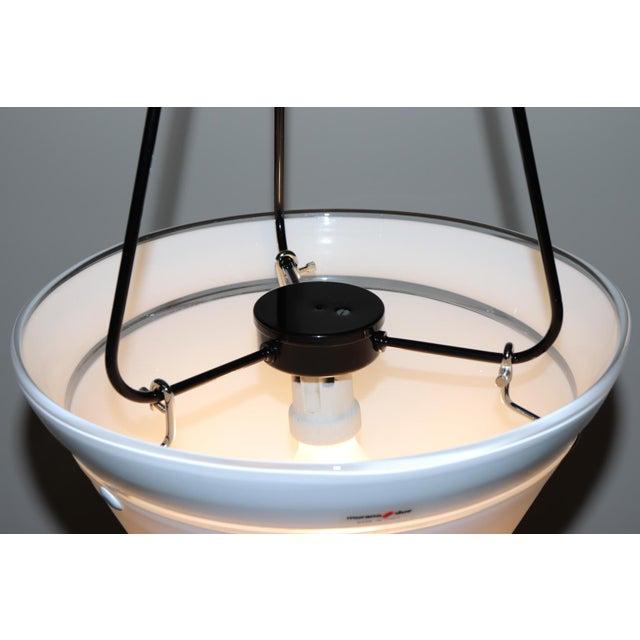 White Mid-Century Modern Murano Glass Pendant Lamp For Sale - Image 8 of 13