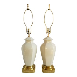Hollywood Regency Ginger Jar Table Lamps For Sale