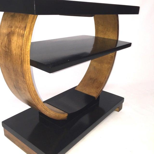 Brown Saltman Deco End Table - Image 2 of 3