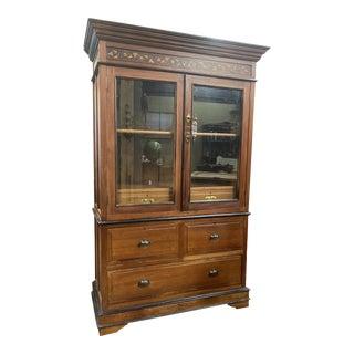 Antique Wooden Linen Case For Sale