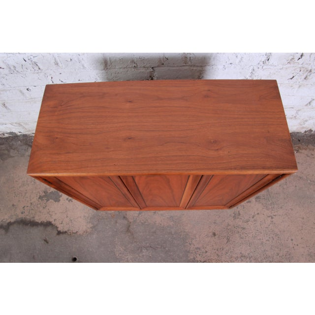 Drexel Declaration Kipp Stewart for Drexel Declaration Mid-Century Modern Walnut Cabinet, 1965 For Sale - Image 4 of 12