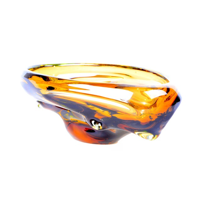 Murano Amber Bowl For Sale In Miami - Image 6 of 6