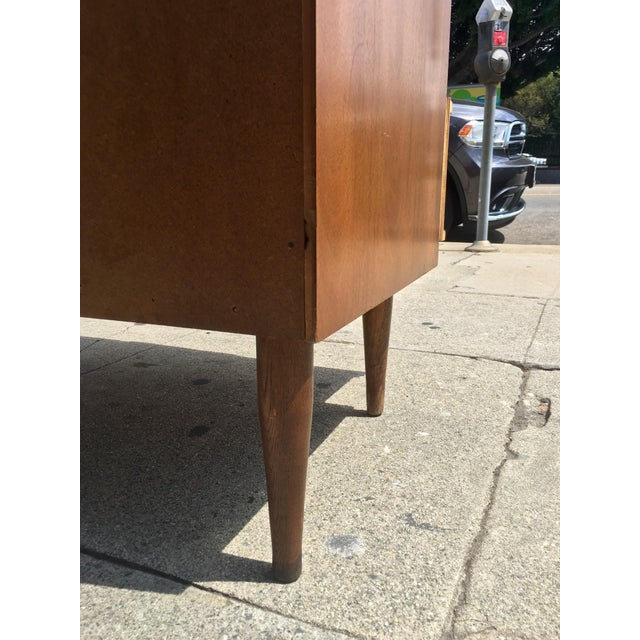 Mid-Century Highboy with Sculpted Pulls - Image 9 of 10