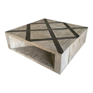 Four Hands Wooden Coffee Table For Sale