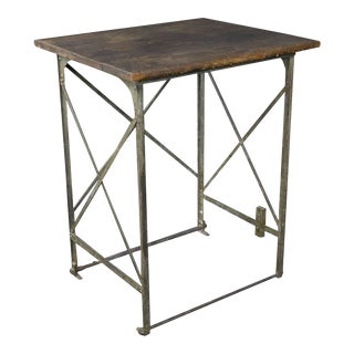 Early 20th Century French Industrial Factory Table For Sale