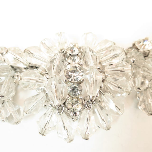 Mid-Century Hand-Made Austrian Crystal Cluster Necklace Suite 1950 For Sale In Los Angeles - Image 6 of 13