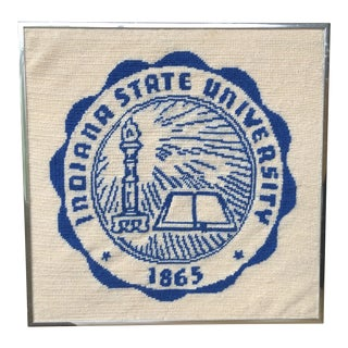 Vintage Indiana State University Needlepoint For Sale