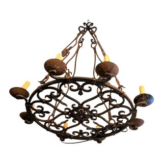 Wrought Iron French Chandelier