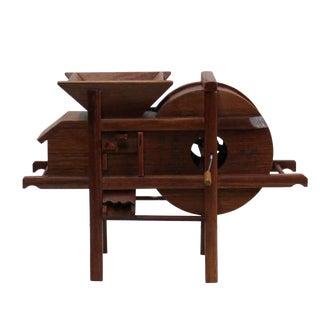 Chinese Rosewood Handmade Miniature Rice Grain Crushing Mill Display Decor For Sale
