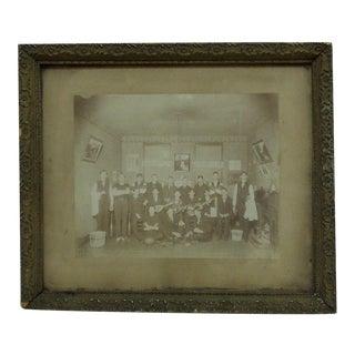 "Circa 1890 Vintage ""The Nimrod Club"" Framed Black & White Photograph For Sale"