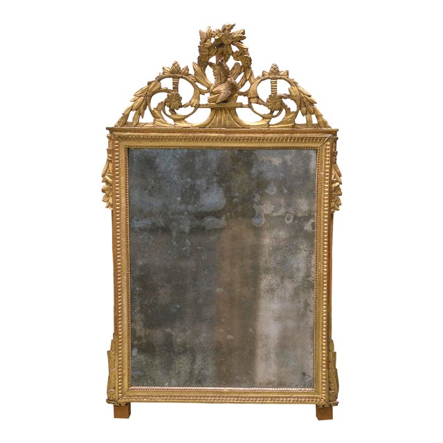 Gold Louis XVI 18th Century Mirror For Sale - Image 8 of 9